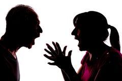 在夫妇之间的冲突 免版税库存照片
