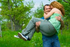 在夫妇爱的使用附近 库存照片