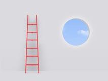 在失败的梯子对窗口 免版税库存照片