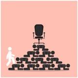 在失败者概念台阶的优胜者步行  竞争概念查出的白色 向量例证