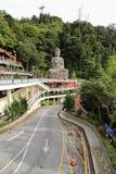 在奇恩角Swee的菩萨雕象使寺庙陷下 库存照片