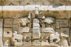 在奇琴伊察的教会细节,世界的奇迹 库存图片