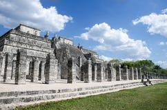 在奇琴伊察,世界的奇迹的战士寺庙 免版税库存图片