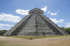 在奇琴伊察,世界的奇迹的kukulcan寺庙 库存图片