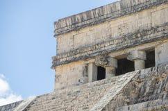 在奇琴伊察,世界的奇迹的kukulcan寺庙 库存照片