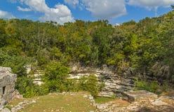 在奇琴伊察视域,墨西哥的圣洁玛雅Cenote 免版税库存照片