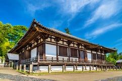 在奈良Hokke Todai籍寺庙大厅  库存图片