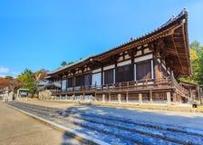 在奈良Sangatsu Todai籍复合体的霍尔 免版税库存图片