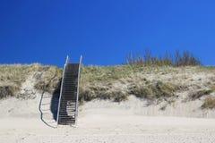在奈达附近的海滩在立陶宛 库存照片