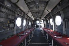 在契努克族直升机里面 免版税库存照片
