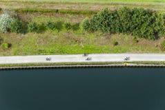 在奥伯豪森,循环超级高速公路德国鲁尔区 图库摄影