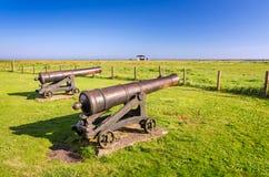 在奥兰海岛上的古铜色大炮 免版税库存图片