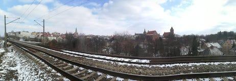 在奥尔什丁,波兰的看法 免版税库存照片