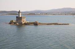 在奥尔比亚& x28的灯塔; Sardinia& x29; 图库摄影