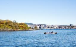 在奥斯陆附近的小船 免版税图库摄影