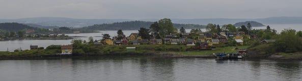 在奥斯陆附近的海湾 免版税库存图片