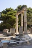 在奥林匹亚Altis的Philippeion  库存照片
