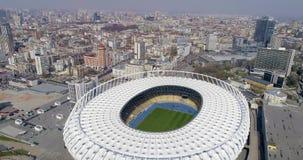 在奥林匹克体育场上的鸟瞰图在基辅 E 影视素材