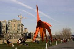 奥林匹克雕塑公园西雅图 免版税库存照片