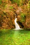 在奥林匹斯山山,希腊的瀑布 库存图片