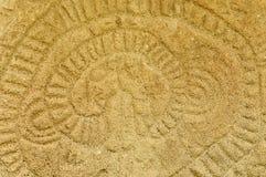 在奥梅特佩岛海岛,尼加拉瓜上的刻在岩石上的文字 免版税库存照片