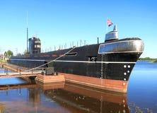 在奥涅加的潜水艇 免版税库存照片
