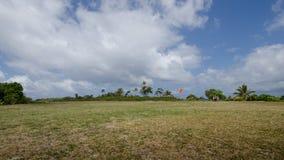 在奥秘海岛,瓦努阿图上的小型飞机场 免版税库存照片