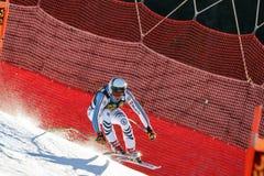 在奥迪FIS高山滑雪世界杯-下坡的人的沙磨机安德烈亚斯 图库摄影