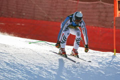 在奥迪FIS高山滑雪世界杯-下坡的人的沙磨机安德烈亚斯 库存图片