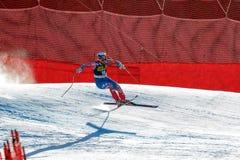 在奥迪FIS高山滑雪世界杯-下坡的人的GANONG特拉维斯 图库摄影