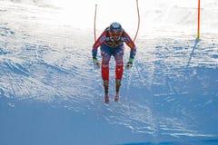 在奥迪FIS高山滑雪世界杯-下坡的人的GANONG特拉维斯 库存图片