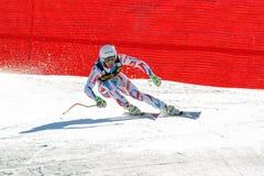 在奥迪FIS高山滑雪世界杯-下坡的人的Theaux Adrien 库存照片