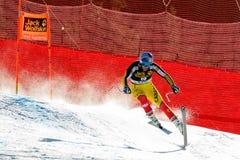 在奥迪FIS高山滑雪世界杯-人的下坡种族的GUAY艾瑞克 库存照片