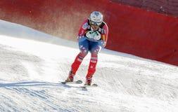 在奥迪FIS高山滑雪世界杯-人的下坡镭的槭树威里 免版税库存照片