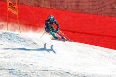 在奥迪FIS高山滑雪世界杯-人的下坡镭的脚跟沃纳 图库摄影