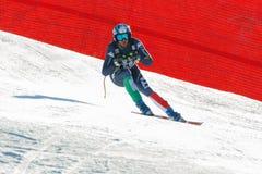 在奥迪FIS高山滑雪世界杯-人的下坡镭的脚跟沃纳 库存图片