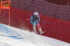 在奥迪FIS高山滑雪世界杯-人的下坡R的Casse Mattia 免版税图库摄影