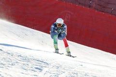 在奥迪FIS高山滑雪世界杯-人的下坡R的Casse Mattia 图库摄影
