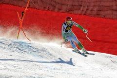 在奥迪FIS高山滑雪世界杯-人的下坡R的Sporn Andrej 免版税库存照片