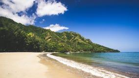 在奥阿胡岛的海滩 免版税库存图片
