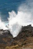 在奥阿胡岛的通风孔 免版税库存照片
