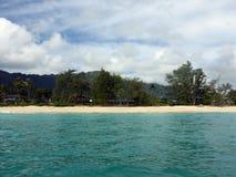 在奥阿胡岛的Waimanalo海滩 免版税库存照片