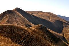 在奥韦涅小山的秋季颜色  库存照片