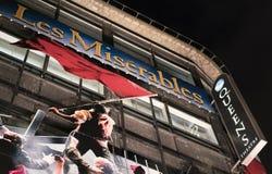 在女王剧院伦敦伦敦英国的悲惨世界音乐会 免版税库存图片