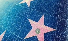 在好莱坞大道的基夫・修打兰星 图库摄影