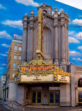 在好莱坞大道,迪斯尼加利福尼亚冒险公园的Hyperion门面 库存图片