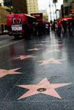 在好莱坞星光大道的唐纳德・川普星 库存照片
