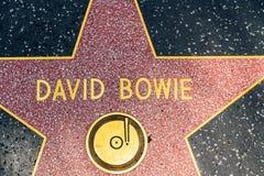 在好莱坞星光大道的大卫・鲍伊星 免版税库存照片