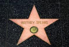 在好莱坞星光大道的布兰妮・斯皮尔斯星 免版税库存照片
