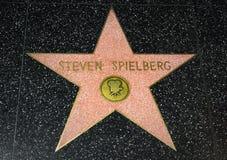 在好莱坞星光大道的斯蒂芬・斯皮尔伯格星 免版税库存图片